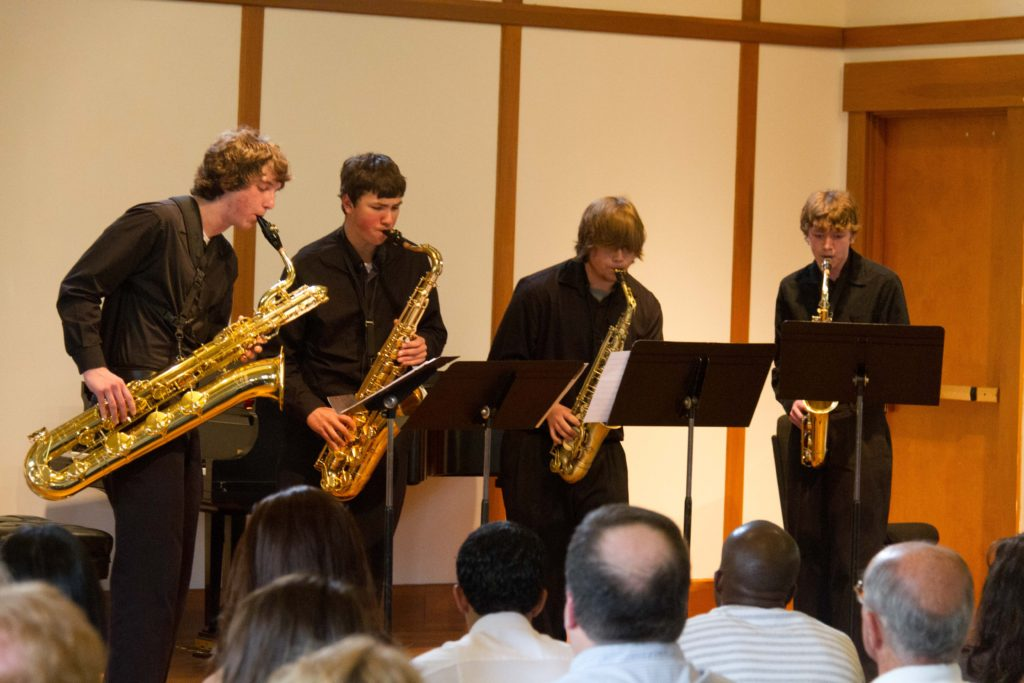 South Shore Conservatory Sax Quartet 5/11 Photo: Frank White III