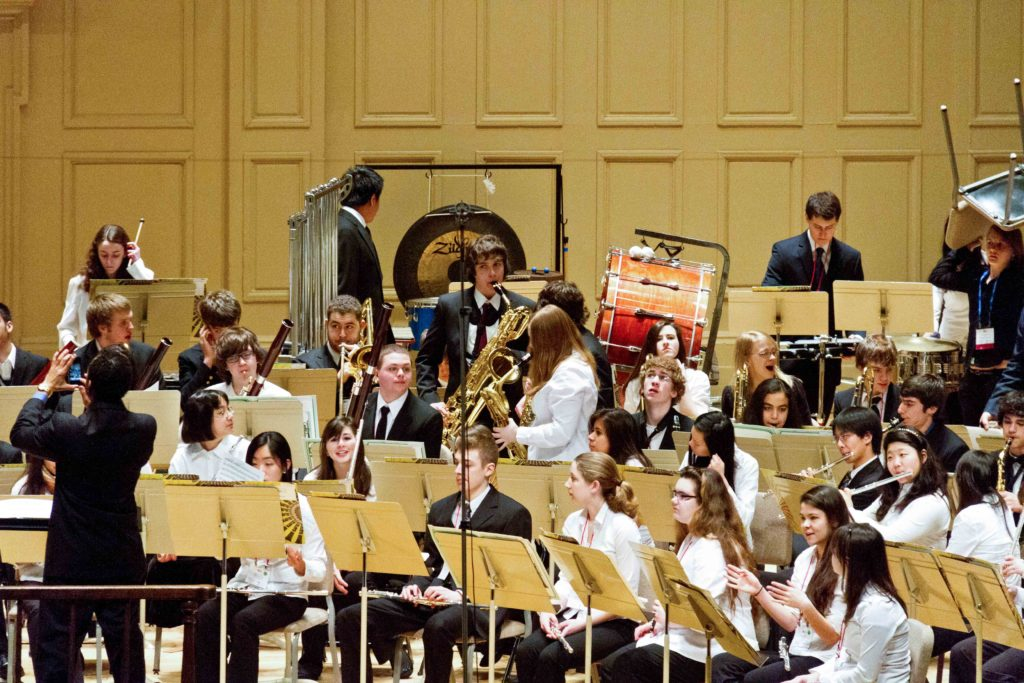 Symphony Hall Boston Mass. All State Band 3/11 Photo: Frank White III
